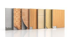 Le plancher dactylographie le revêtement Installation de plancher illustration de vecteur