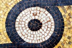 Le plancher de mosaïque Galerie Vivienne a couvert des Frances de Paris de passage Photographie stock libre de droits