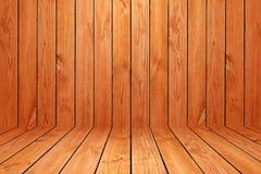 Le plancher en bois a donné au fond une consistance rugueuse de modèle dans le ton brun clair de couleur Images stock