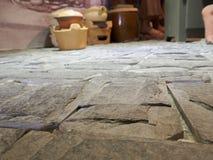 Le plancher en pierre d'a de Images stock