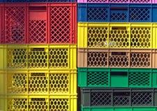 Le plastique coloré contient photo libre de droits