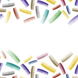 Le plastique coloré peigne le modèle Barber Supplies Photographie stock libre de droits