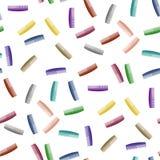 Le plastique coloré peigne le modèle sans couture Photographie stock