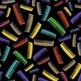 Le plastique coloré peigne le modèle sans couture Photographie stock libre de droits