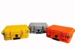 Le plastique dur de cas protègent l'équipement de résistant à l'eau Photo libre de droits