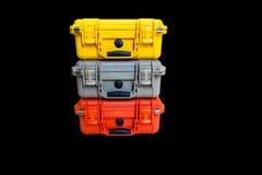 Le plastique dur de cas protègent l'équipement de résistant à l'eau Images stock