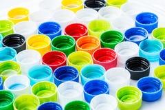 Le plastique réutilisent la bouteille de chapeau Photographie stock