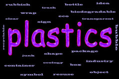 Le plastique réutilisent le concept Images libres de droits