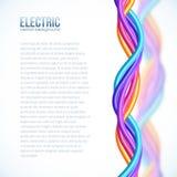 Le plastique vibrant de couleurs tordu câble le fond Photo libre de droits