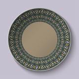 Le plat avec l'ornement a stylisé le modèle romain antique illustration stock