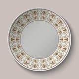 Le plat avec l'ornement a stylisé le modèle romain antique illustration libre de droits