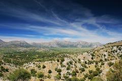 Le plateau de Lassithi Images stock