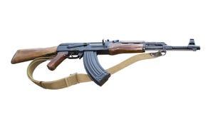 Le pliage de fusil d'assaut de kalachnikov photo stock