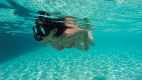le plongeur libèrent image stock