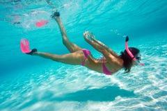 le plongeur libèrent Photos stock