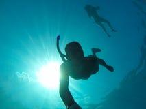 le plongeur libèrent Photos libres de droits