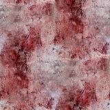 Le plâtre rouge de taches de sang de mur fend la peinture Photographie stock