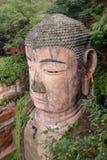Le plus grand Bouddha en pierre en Chine Photo libre de droits