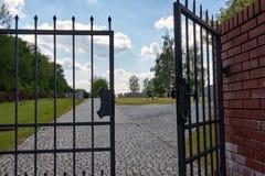 Le plus grand cimetière des soldats allemands en Pologne, skie de Siemianowice ÅšlÄ… photographie stock