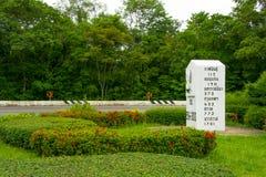 Le plus grand kilomètre en Thaïlande Images libres de droits