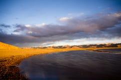 Le plus grand lac au Thibet photo stock