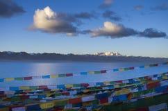 Le plus grand lac au Thibet photos stock