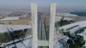 Le plus grand pont au monde, vue aérienne banque de vidéos