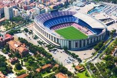 Le plus grand stade de Barcelone d'hélicoptère catalonia photo stock