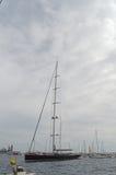 Le plus grand yacht des mondes Image stock