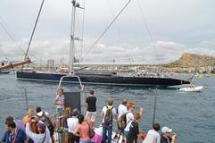 Le plus grand yacht des mondes Image libre de droits