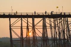 Le plus long pont en bois Photographie stock