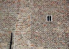 Le plus petit hublot gothique à Bruges Images stock
