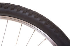 Le pneu de vélo de montagne a isolé Image libre de droits