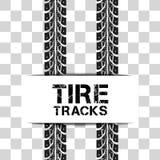 Le pneu dépiste le vecteur Photos libres de droits