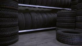 Le pneu est tombé disponible immédiatement au plancher banque de vidéos