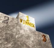 Le podiume du gagnant Image libre de droits