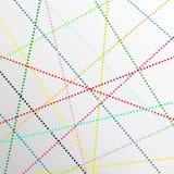 Le point abstrait de couleur raye le fond Image stock