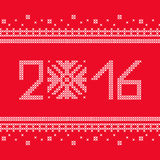 Le point croisé Flocons de neige de Noël Configuration décorative Photographie stock
