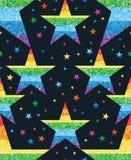 Le point d'étoile relient le modèle sans couture de scintillement d'arc-en-ciel Images stock