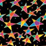 Le point d'étoile relient le modèle sans couture de style Images libres de droits