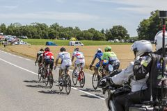 Le point d'interruption - Tour de France 2017 Images stock