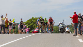 Le point d'interruption - Tour de France 2017 Image stock