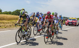 Le point d'interruption - Tour de France 2017 Photos stock