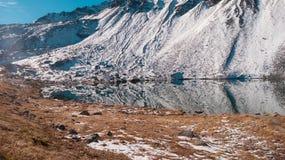 Le point de repère suisse a photographié par temps le plus beau photo libre de droits