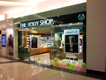 Le point de vente de Body Shop Photo stock
