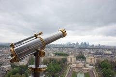 Le point de vue dans Tour Eiffel à Paris, France Images libres de droits