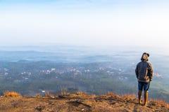Le point de vue de hillsKottappara de Kottapara est la plus nouvelle addition au tourisme dans le secteur d'Idukki du Kerala photographie stock