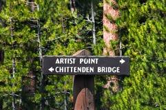 Le point des artistes et le pont de Chittenden Photos stock