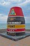 Le point le plus le plus au sud, Key West la Floride Images stock