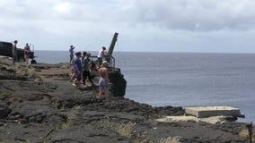 Le point le plus le plus au sud d'Hawaï banque de vidéos